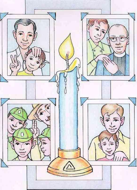 International Boy Love Day IBLD blue candle